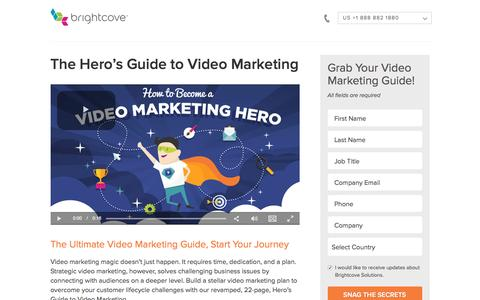 Screenshot of Landing Page brightcove.com - Brightcove | The Hero's Guide to Video Marketing - captured Sept. 30, 2016