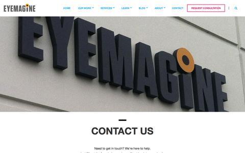 Screenshot of Contact Page eyemaginetech.com - Contact Us   EYEMAGINE - captured Jan. 24, 2016