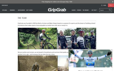 Screenshot of Team Page gripgrab.com - The Team - GripGrab - captured Sept. 30, 2018