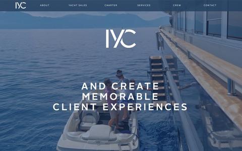 Screenshot of Home Page iyc.com - Home - IYC - captured Feb. 11, 2016