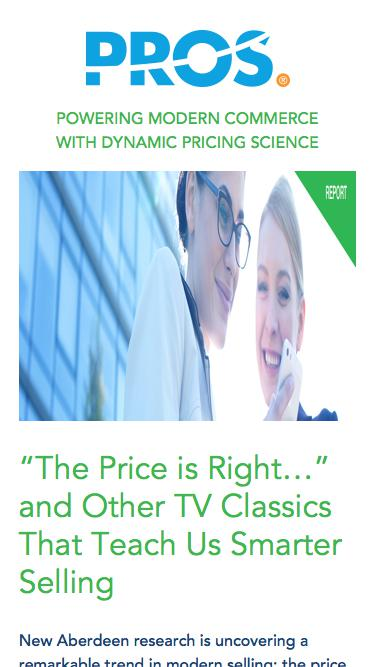 Aberdeen: The Price is Right | PROS Resources | PROS