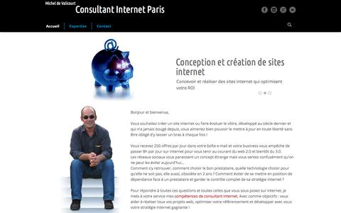 Screenshot of Home Page conseil-internet-paris.com - Consultant internet Paris - captured Sept. 23, 2018