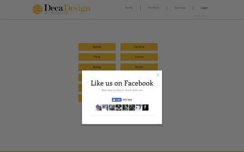 Screenshot of Login Page decadesign.be - decadesign | Login - captured Nov. 24, 2016