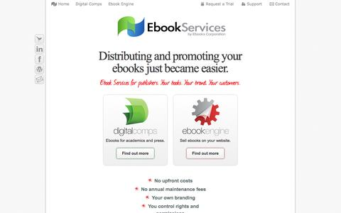 Screenshot of Home Page ebookservices.com - Ebook Services - Distributing and promoting your ebooks just became easier. - captured Sept. 30, 2014