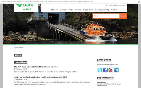 Screenshot of Press Page bamnuttall.co.uk - BAM Nuttall media - captured Feb. 2, 2016