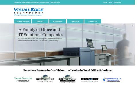 Screenshot of Home Page visualedgetechnology.com - Home Page - Visual Edge Technology - captured Aug. 11, 2015