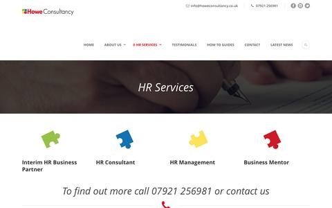 Screenshot of Support Page howeconsultancy.co.uk - HR Services | Howe Consultancy - captured May 23, 2017