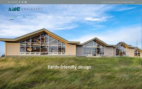 Screenshot of Home Page amc-engineers.com - Home - AMC Engineers - captured Feb. 4, 2016