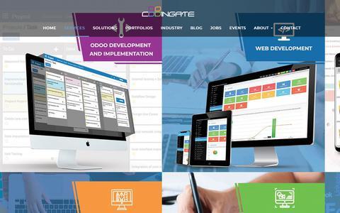 Screenshot of Services Page codingate.com - Service | Codingate - Web and Mobile Application Development Cambodia - captured Nov. 29, 2018