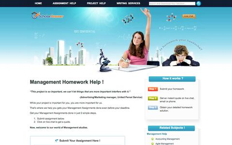 Screenshot of Team Page homeworkeasy.com - Management Homework Help Online   Help With Management Homework - captured Sept. 30, 2014