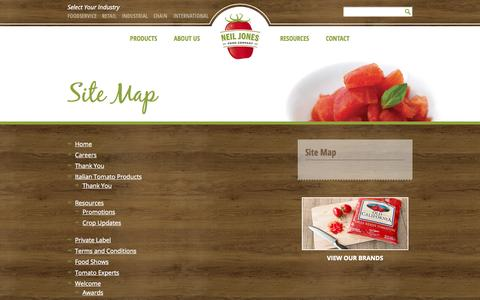 Low Traffic Food Beverage Site Map Pages On Wordpress Website