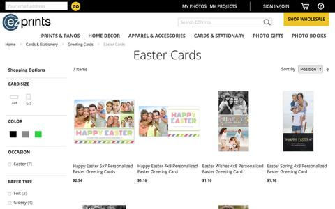 Screenshot of ezprints.com - Custom Easter Cards   Photo Easter Cards   Personalized Easter Cards - EZ Prints - captured March 25, 2016