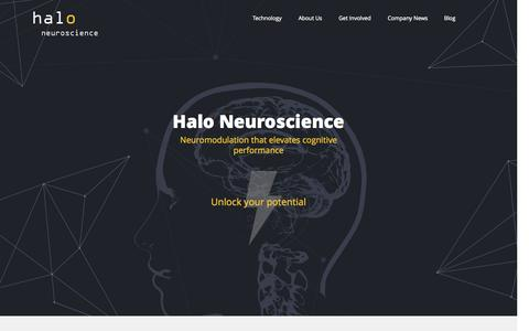 Screenshot of About Page haloneuro.com - Halo Neuroscience - captured June 16, 2015