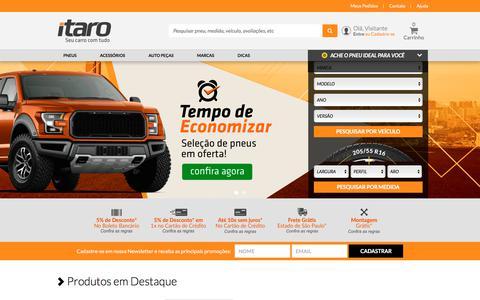 Screenshot of Home Page itaro.com.br - Itaro. Seu carro com tudo. - captured July 13, 2018