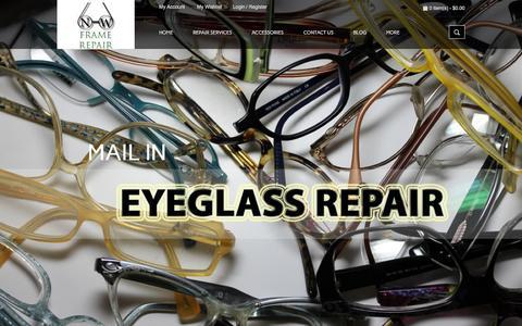Screenshot of Home Page nwframerepair.com - Mail in Titanium Eyeglass Repair by Northwest Frame Repair - captured Jan. 22, 2015