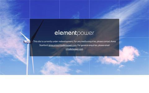 Screenshot of Home Page elpower.com - Element Power - captured Nov. 3, 2018