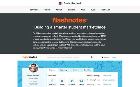 Screenshot of Case Studies Page freshtilledsoil.com - UI Design Case Study - Flashnotes | Fresh Tilled Soil - captured Oct. 22, 2016