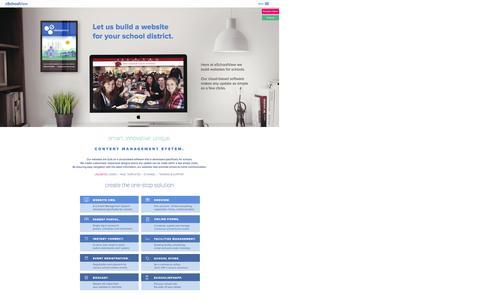 Screenshot of Menu Page eschoolview.com - School Website Design | Education Management Software | eSchoolView - captured Jan. 22, 2016