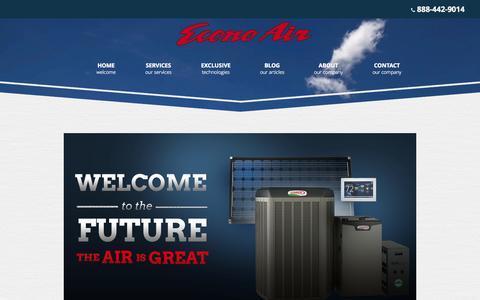 Screenshot of Services Page e-conoair.com - Services | Econo Air | Southern California - captured Sept. 29, 2014