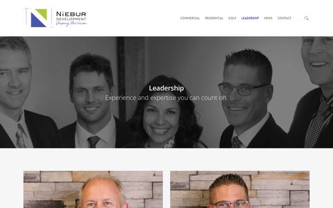 Screenshot of Team Page nieburdevelopment.com - Niebur Development - Leadership Team | Niebur Development - captured Feb. 17, 2016