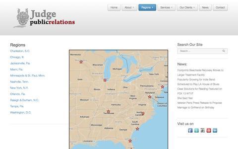 Screenshot of Locations Page judgepr.com - JudgePR.com | Regions - captured Oct. 6, 2014