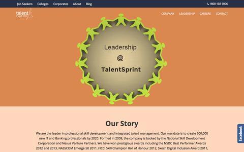 Screenshot of About Page talentsprint.com - About Us   TalentSprint - captured Oct. 31, 2014