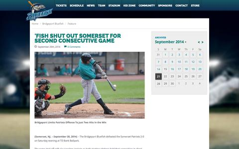 Screenshot of Press Page bridgeportbluefish.com - Team News | Stay in the Know · Bridgeport Bluefish - captured Sept. 23, 2014