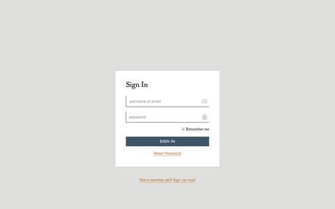Screenshot of Login Page barmethod.com - Sign in - Bar Method - captured Sept. 27, 2017