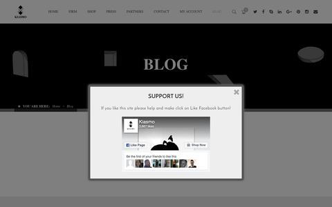 Screenshot of Blog kiasmo.it - Blog - Kiasmo - Art & Design - captured Aug. 9, 2016