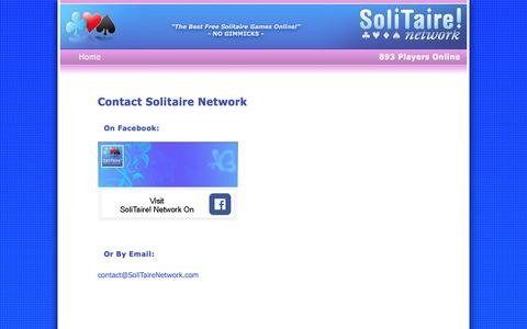 Screenshot of Contact Page solitairenetwork.com - Contact Solitaire Network - captured Sept. 23, 2018