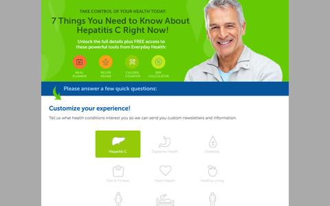 Screenshot of Landing Page everydayhealth.com - Everyday Health   7 Things You Need to Know About Hep C - captured June 24, 2016