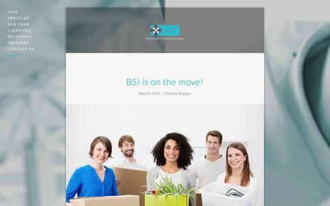 Screenshot of Press Page bsi-va.com - News — BSI - The Benefit Services Company - captured Nov. 2, 2014