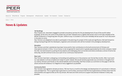 Screenshot of Press Page peer.hk - Peer Partners Ltd. - captured Oct. 2, 2014