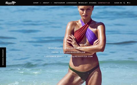 Screenshot of Contact Page reinaolga.com - CONTACT US - Reina Olga - captured June 13, 2017