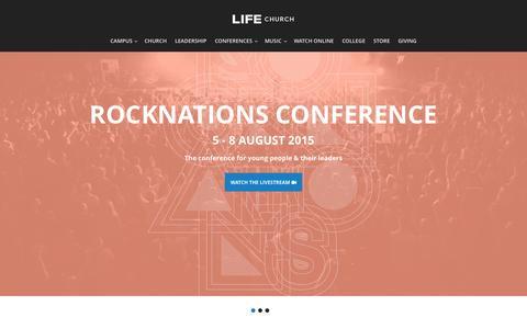 Screenshot of Home Page lifechurchhome.com - LIFE Church   Bradford, Leeds, Warsaw & Belfast - captured Aug. 6, 2015