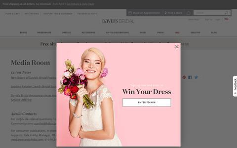 Screenshot of Press Page davidsbridal.com - Press Room | David's Bridal - captured April 5, 2019