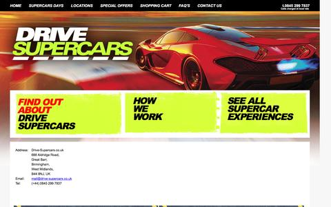 Screenshot of Contact Page drive-supercars.co.uk - ! Drive Supercars   Supercar Days and Supercars Experience Days - captured Sept. 26, 2016