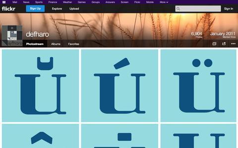 Screenshot of Flickr Page flickr.com - Flickr: defharo's Photostream - captured Oct. 23, 2014