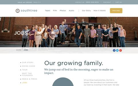 Screenshot of Jobs Page southtree.com - Jobs at Southtree - captured Oct. 22, 2015