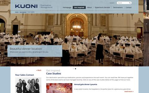 Screenshot of Case Studies Page kuoni-dmceurope.com captured Oct. 8, 2014