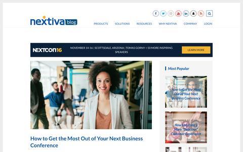 Screenshot of Blog nextiva.com - Business VoIP Resource Center - Nextiva | Nextiva Blog - captured Oct. 29, 2016