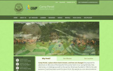 Screenshot of Maps & Directions Page camppeniel.org - Camp Peniel - Adventure with a purpose!Directions - captured July 18, 2015