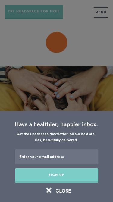 Screenshot of Blog  headspace.com - The Orange Dot