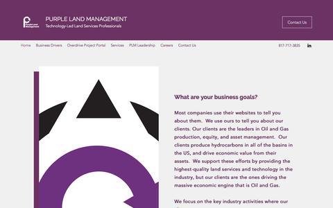 Screenshot of Home Page purplelandmgmt.com - Home   Purple Land Management - captured Nov. 1, 2019