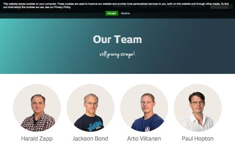 Screenshot of Team Page relayr.io - relayr - bring things to life - Team - captured Oct. 28, 2014