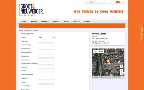 Screenshot of Contact Page grootnieuweboer.nl - Contact - Groot & Nieuweboer Makelaardij Bovenkarspel - captured Nov. 16, 2016