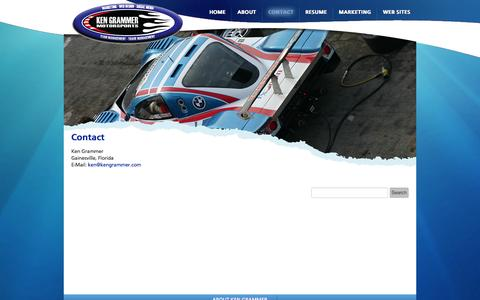 Screenshot of Contact Page kengrammer.com - Contact | Ken Grammer - captured Oct. 1, 2014