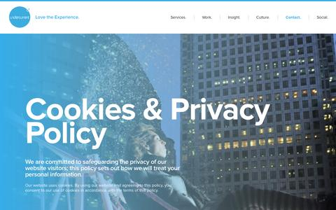 Screenshot of Terms Page undercurrent.uk.net - Cookies & Privacy Policy   Undercurrent - captured Nov. 19, 2016