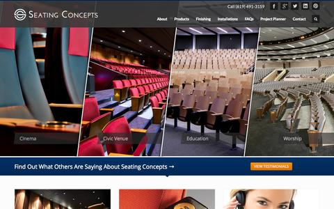 Screenshot of Home Page Privacy Page seatingconcepts.com - Seating Concepts - Fixed Seating Manufacturer - captured Oct. 6, 2014