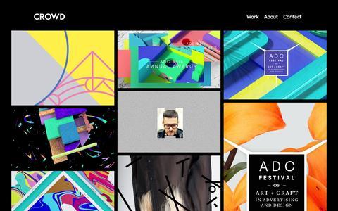 Screenshot of Home Page crowd-studio.com - Crowd Studio - captured June 17, 2015